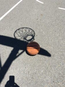 Self Care includes shooting baskets