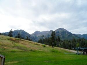 The chair lift at Sundance, in Summer, that take riders up to the 8,200 foot summit!