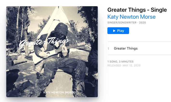 """Greater Things"" Katy Newton Morse"